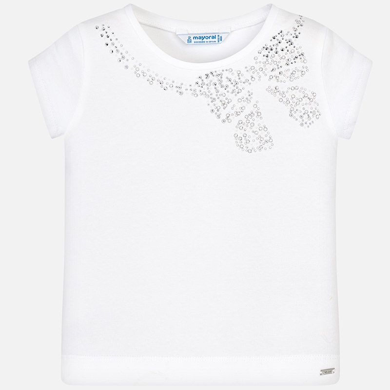 girl mayoral tshirt with bow