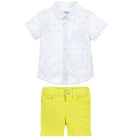 little boy mayoral shorts/shirt set