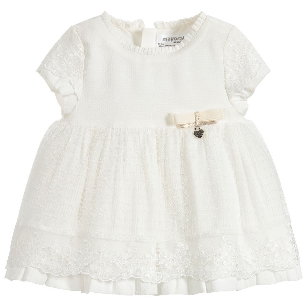 little girl mayoral tulle dress & bloomers