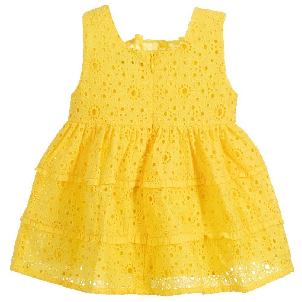 little girl mayoral eyelet dress