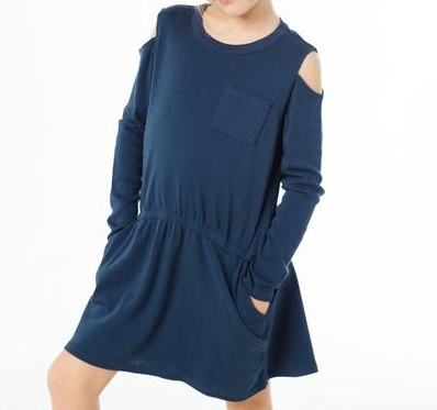 girl chaser cold shoulder hi-lo dress