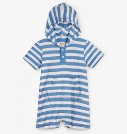 little boy hatley hooded baby romper