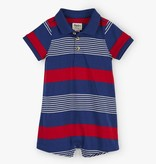 little boy hatley striped romper