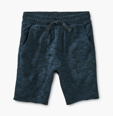 boy tea collection printed knit gym shorts