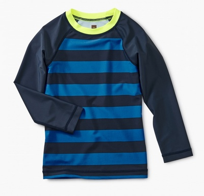 boy tea collection striped ls rashguard