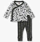 baby tea collection wrap top baby outfit