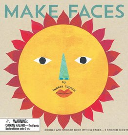 book make faces: a doodle and sticker book