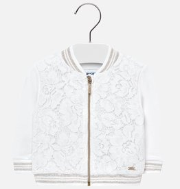 little girl mayoral lace bomber