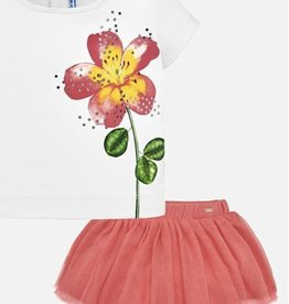little girl mayoral skirt/shirt set