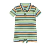 little boy kickee pants polo romper