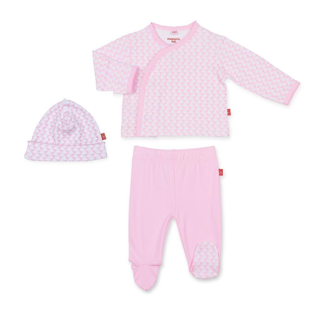baby magnetic me 3-pc kimono set