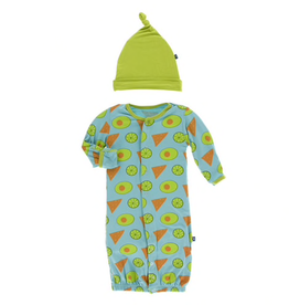 baby kickee pants gown converter & hat set