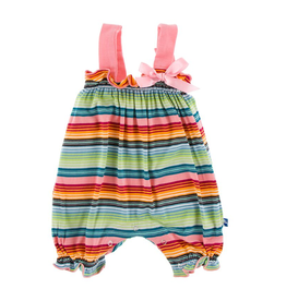 little girl kickee pants romper with bow