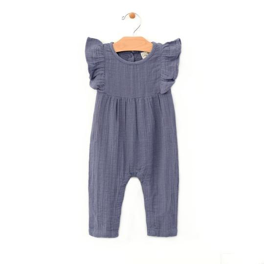 little girl city mouse organic flutter romper