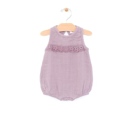 little girl city mouse organic bubble romper