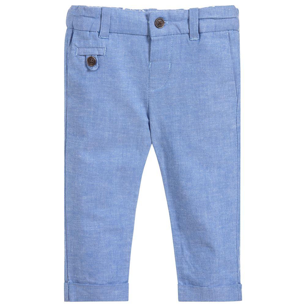 little boy mayoral linen pants