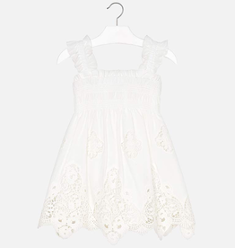 girl mayoral lace bottom dress