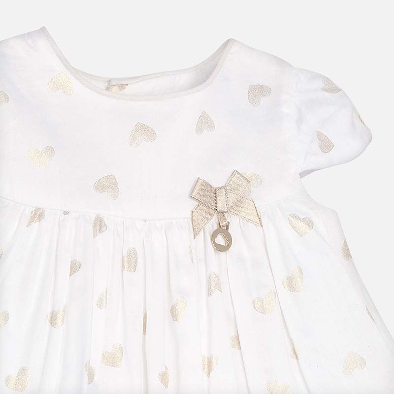 little girl mayoral satin dress