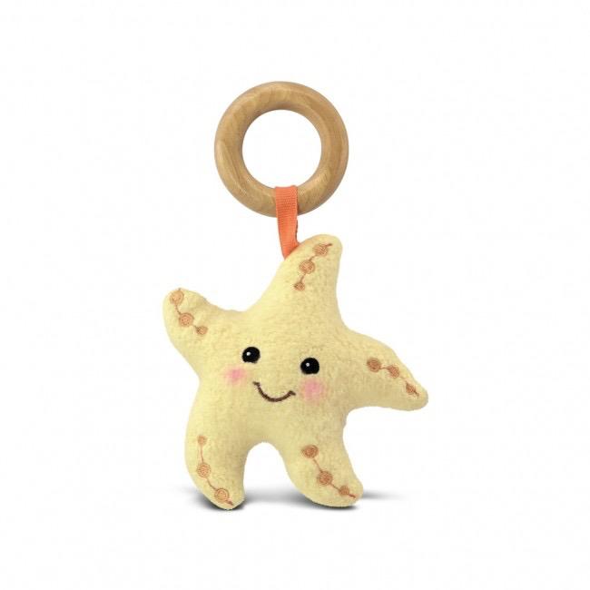 playtime apple park organic starfish teething toy