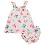 little girl angel dear muslin sundress and diaper cover