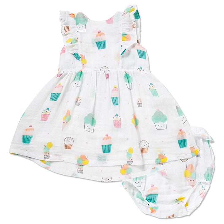little girl angel dear dress & bloomer
