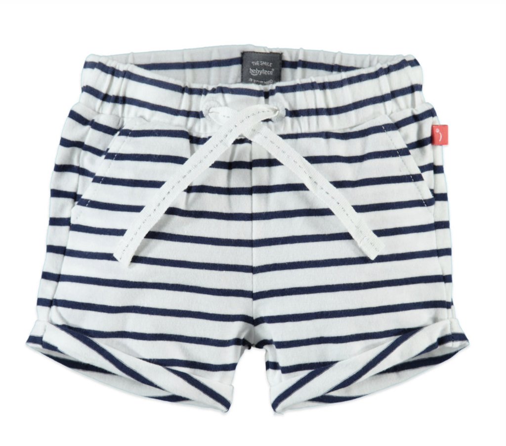 little girl babyface striped shorts