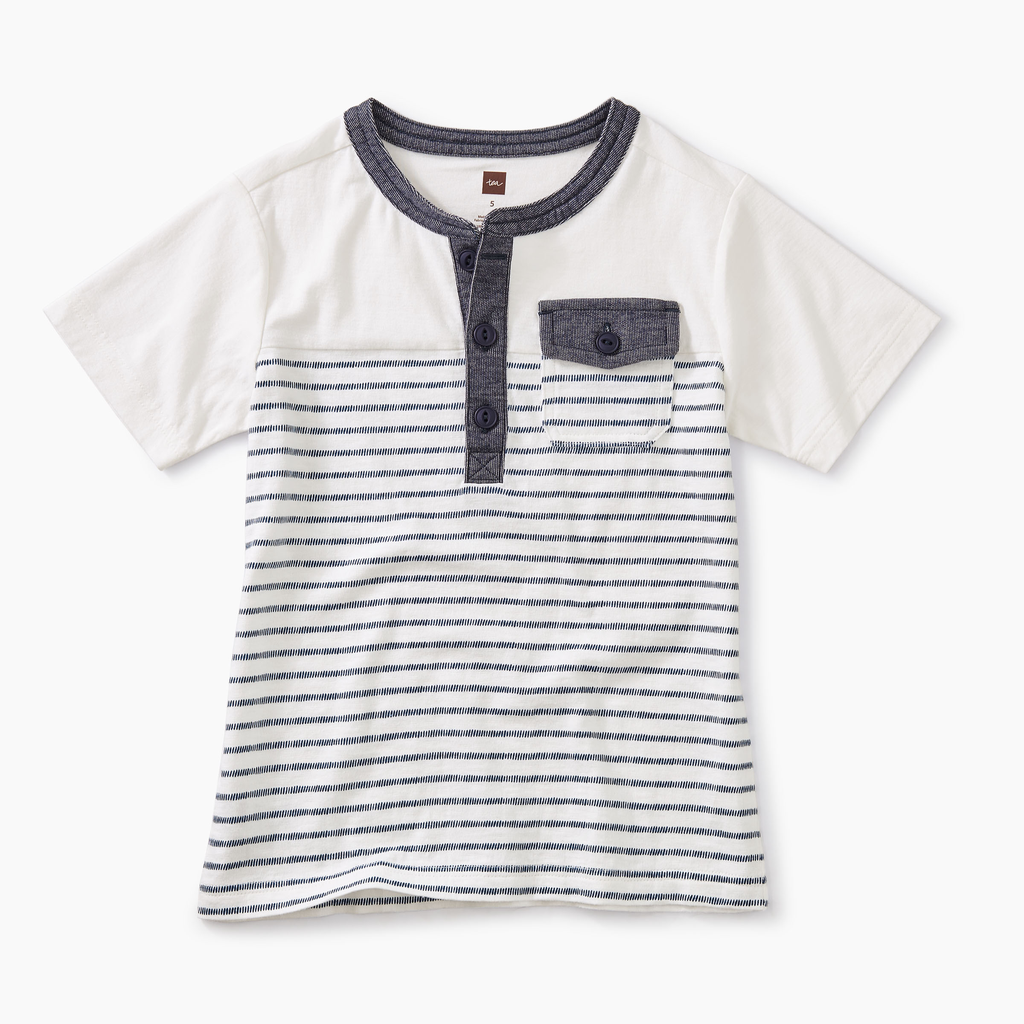 boy tea collection striped pocket henley