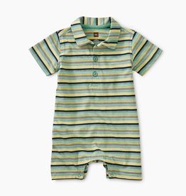little boy tea collection striped polo romper