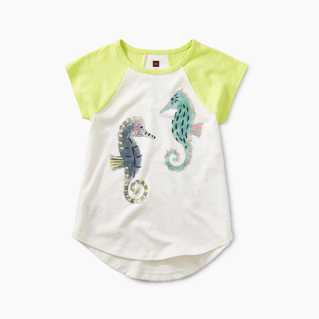 girl tea collection seahorse raglan tunic