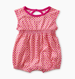 little girl tea collection printed keyhole romper