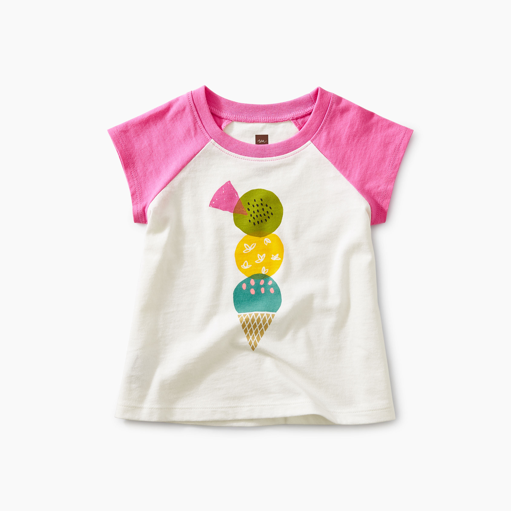 little girl tea collection triple treat graphic tee