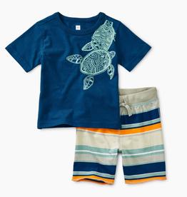 little boy tea collection sea turtle set