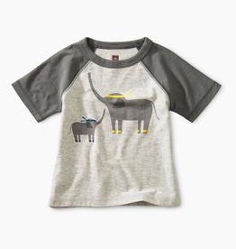 little boy tea collection martial arts elephant tee