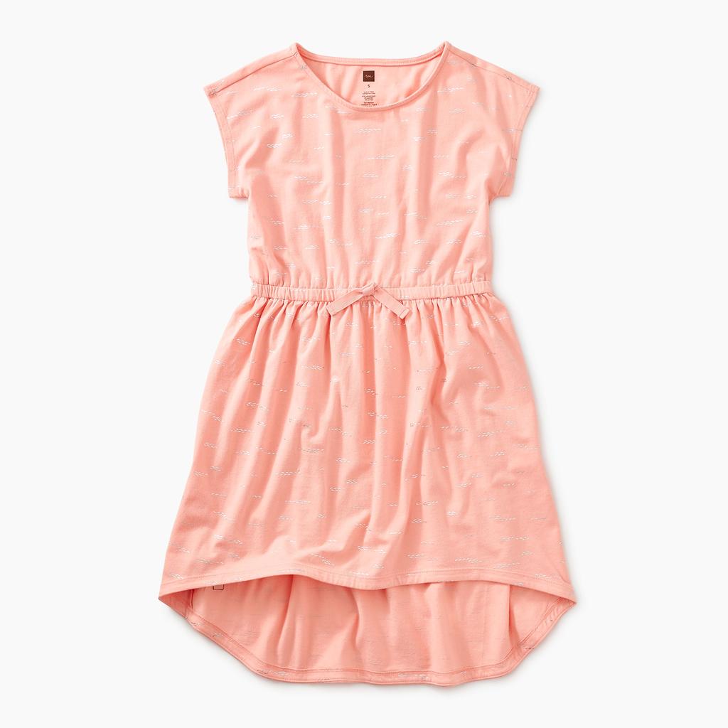 girl tea collection sparkle tie waist hi-lo dress