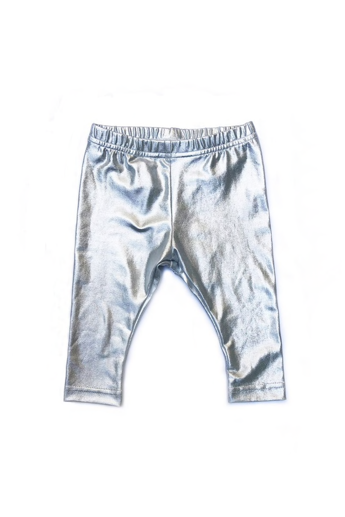 girl sophie catalou metallic leggings