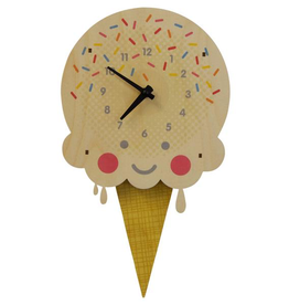 decor modern moose ice cream clock