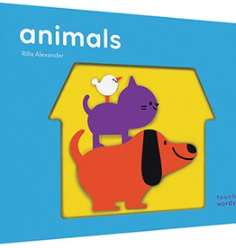 book touch words: animals