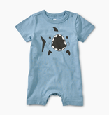 little boy tea collection shark graphic romper