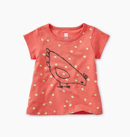 little girl tea collection red hen graphic tee