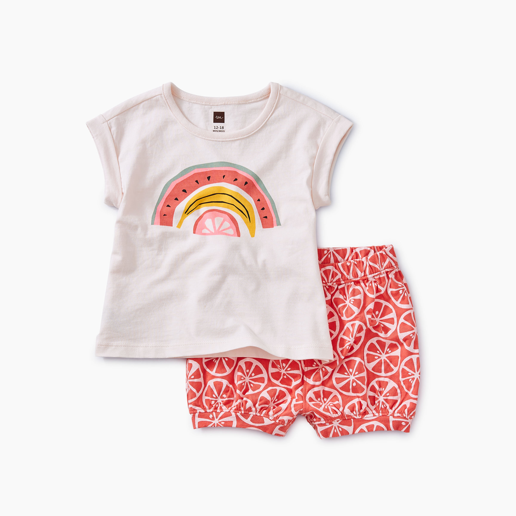 little girl tea collection rainbow fruity baby set