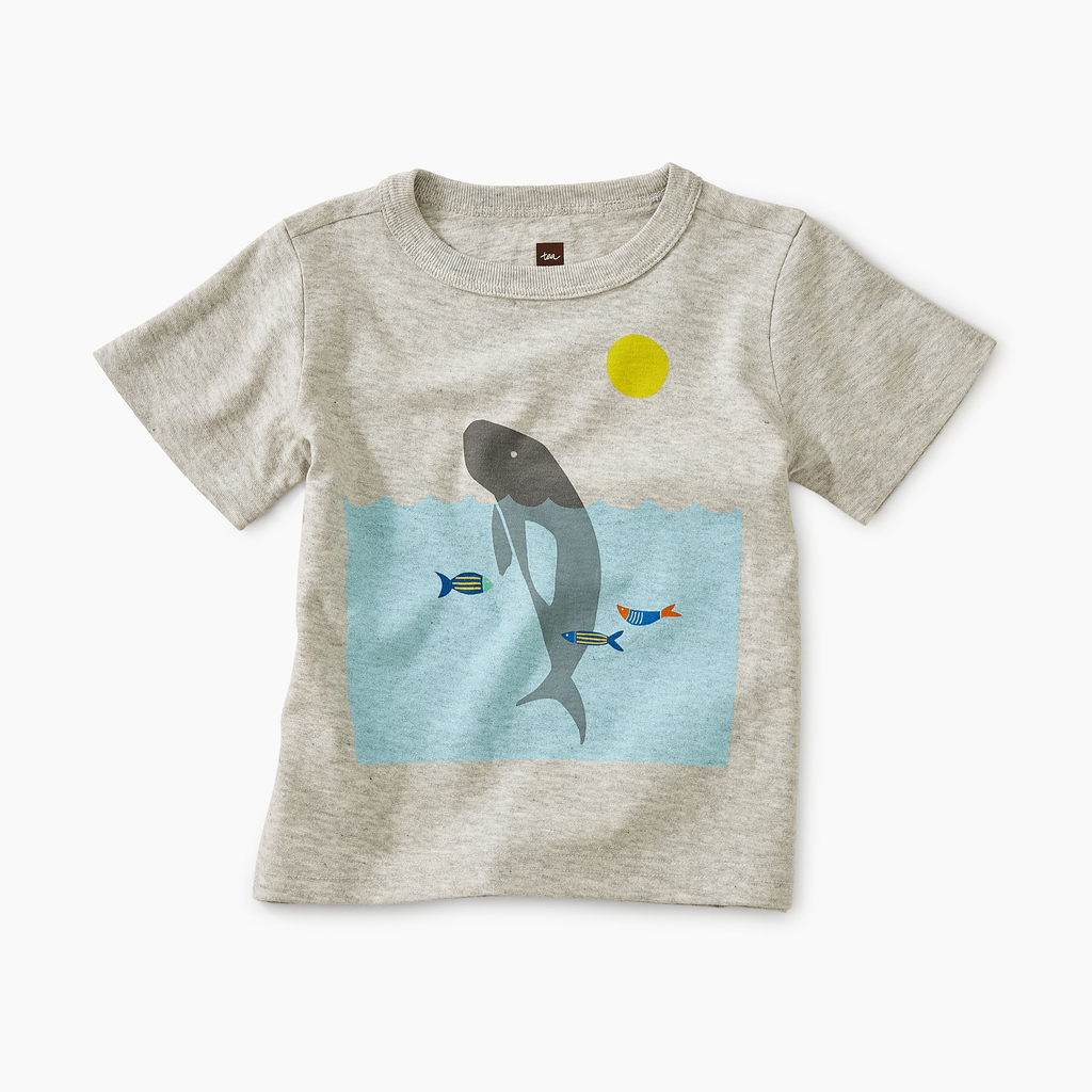 little boy tea collection manatee graphic tee