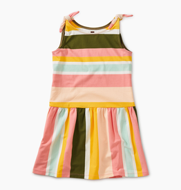 girl tea collection printed tie shoulder dress