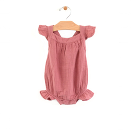 little girl city mouse organic bubble tank romper