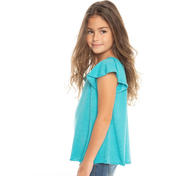 girl **sale** chaser flutter sleeve top