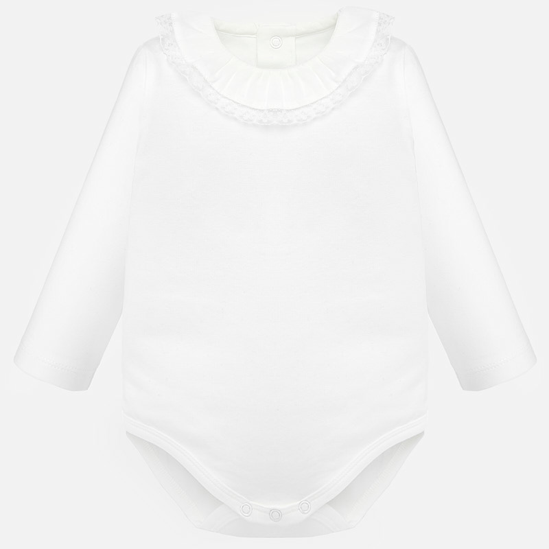 baby girl mayoral lace collared onesie