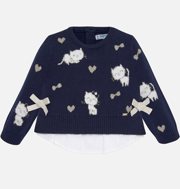 little girl mayoral layered sweater