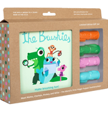 personal care brushies gift set, book and 4 brushies