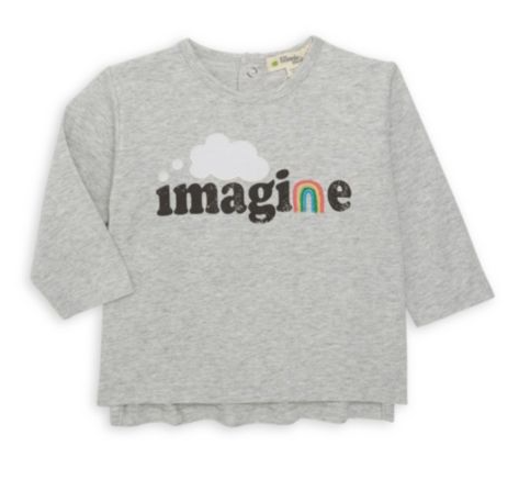 little one bonnie mob organic long sleeve tee
