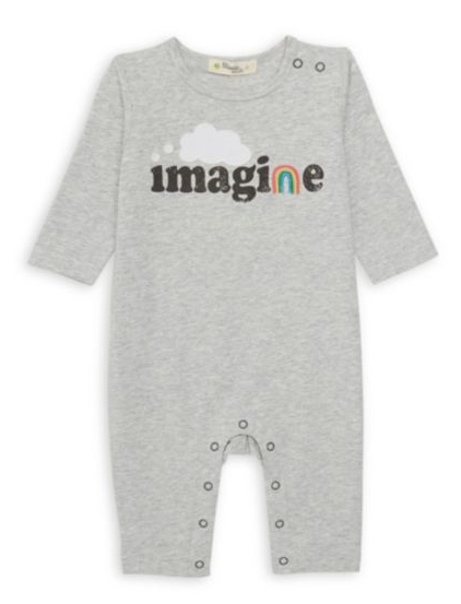 little one bonnie mob organic romper