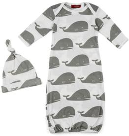 baby milkbarn organic gown set